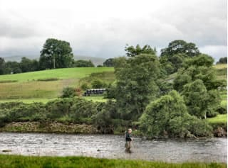 Fishing nearby in the River South Tyne